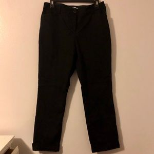 Express Straight mid-rise pants